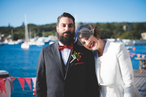 cocktail party wedding, hipster wedding, sydney harbour wedding, vintage bride, retro bride, cocktail hat