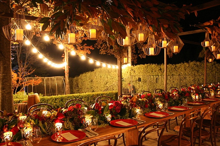 birthday party styling, outdoor dinner, string lights, event stylist, timber table hire, bentwood chair hire, tale flower ideas, event styling, event stylist