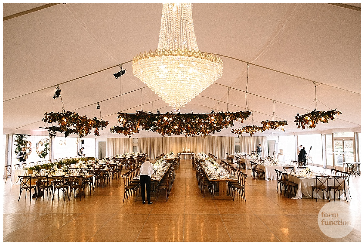 Marquee wedding by Form over Function