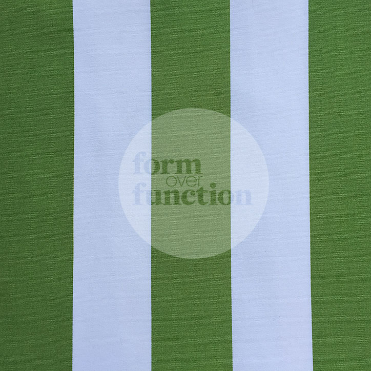 3m X 1.5m Rectangular Green And White Striped Tablecloth