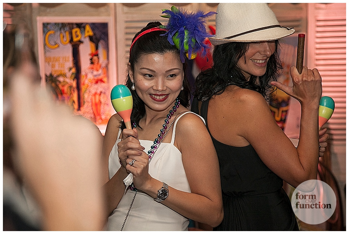 Havana Nights cuban theme corporate event styled by Form Over Function Events.